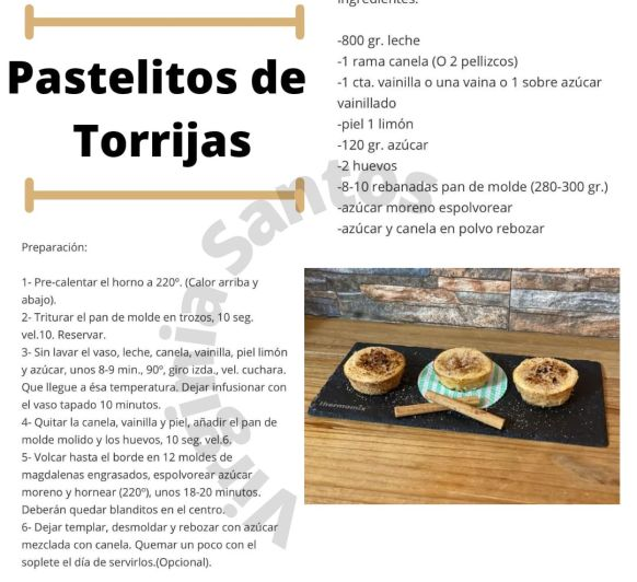 PASTELITOS DE TORRIJAS