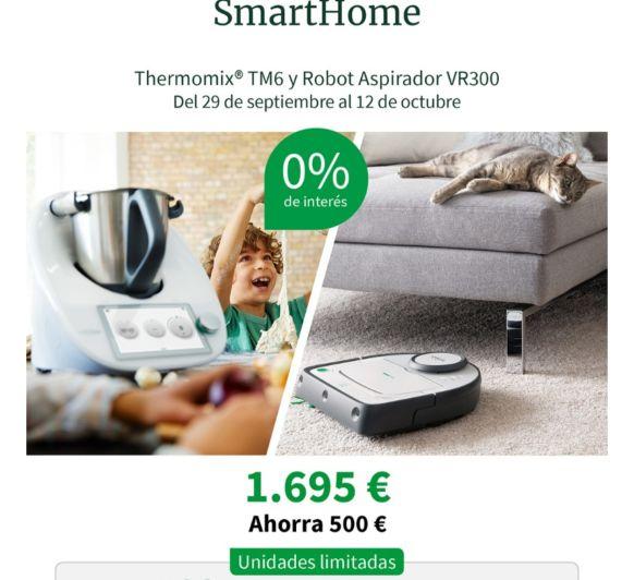 DISFRUTA DEL Thermomix® TM6 + ROBOT ASPIRADOR VR300 AL 0% INTERÉS!!!