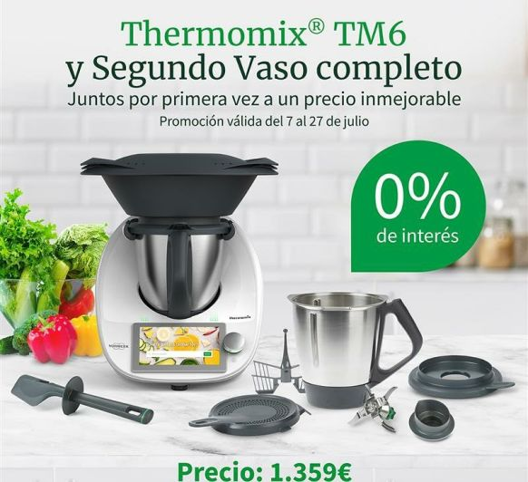 Thermomix® TM6 CON DOS VASOS AL 0% DE FINANCIACIÓN