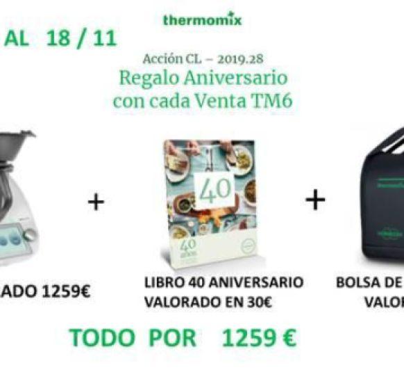 Thermomix® TM6 CON LA BOLSA DE TRANSPORTE Y EL LIBRO DEL 40 ANIVERSARIO